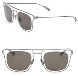 Salvatore Ferragamo Classic 51MM Elegant Stainless Steel Square Sunglasses