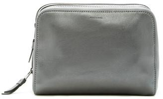 All Saints Leather Makeup Case $128 thestylecure.com
