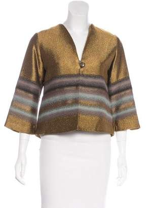 Erica Tanov Metallic Jacquard Jacket