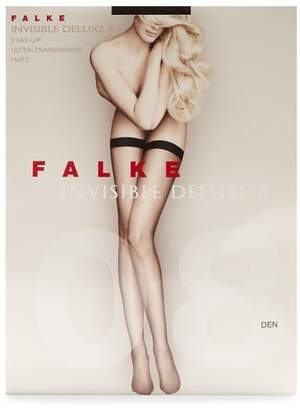 Falke Invisible Deluxe 8 Hold Ups - Womens - Black