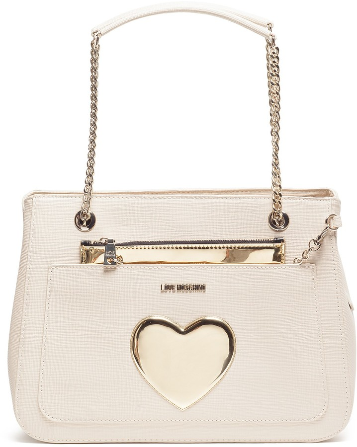 Love Moschino LOVE Moschino Gold Heart Evening Bag