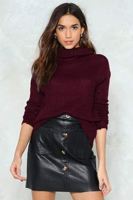 Nasty Gal Knit's Your Call Turtleneck Sweater