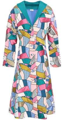Talitha Patchwork Printed Silk Coat