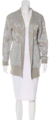 By Malene Birger Metallic-Accented Open Front Cardigan