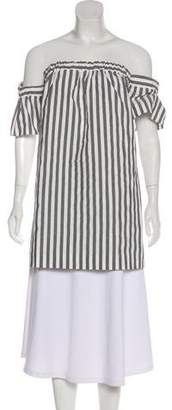 Milly Off-The-Shoulder Striped Top