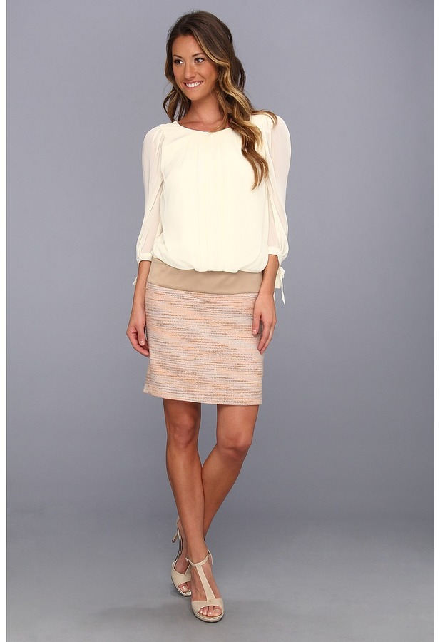 Jessica Simpson 3/4 Bishop Sleeve Dropped Blouson Dress