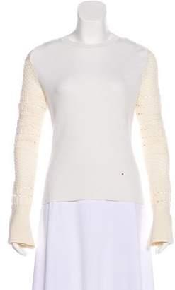 Esteban Cortazar Long Sleeve Knit Top