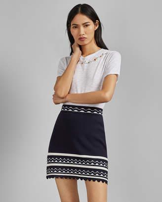 78f973498 Ted Baker ISIBEL Frill striped mini skirt