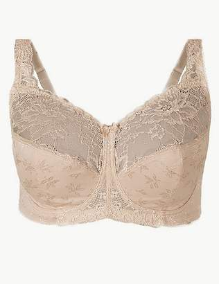 Marks and Spencer Total Support Floral Jacquard Lace Full Cup Bra B-G