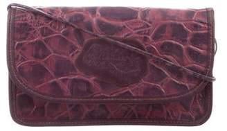 Carlos Falchi Embossed Leather Shoulder Bag