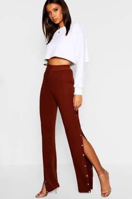 boohoo Tall Popper Detail Jogger
