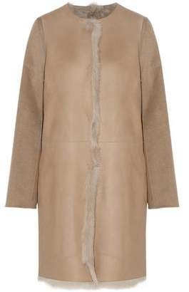 Yves Salomon Reversible Shearling Leather Wool And Cashmere Coat