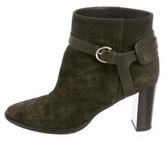 Jimmy Choo Suede Round-Toe Ankle Boots