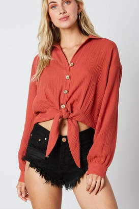 Cotton Candy Tie Bottom Blouse