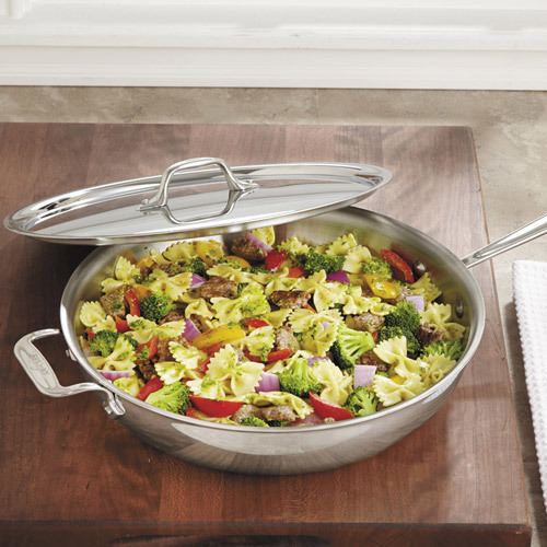 All-Clad Stainless-Steel Saute and Simmer Weeknight Pan, 4-quart