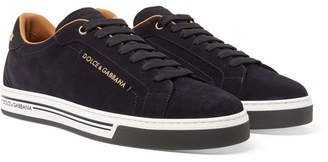 Dolce & Gabbana Roma Suede Sneakers - Midnight blue