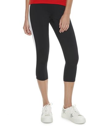 Madden NYC Juniors' Colorblock Side Panel Capris $36 thestylecure.com