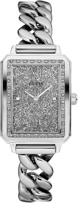 GUESS Women's Stainless Steel Chain Link Bracelet Watch 28mm U0896L1 $125 thestylecure.com