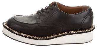 Givenchy Rottweiler Chain-Trimmed Derby Shoes