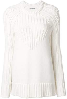 Paco Rabanne ribbed design sweater