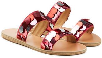 Ancient Greek Sandals Poulia Sequin Sandals