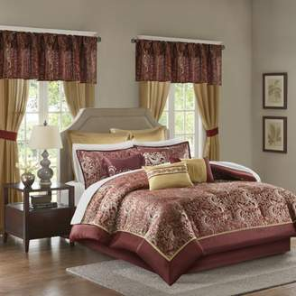 Isabella Collection Home Essence Jacquard Paisley 24 Piece Comforter Collection