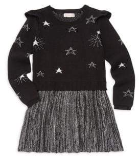 Design History Little Girl's Star Knit Dress