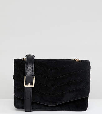 Accessorize Peggys suede chain detail cross body bag