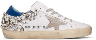 Golden Goose White Diamond Superstar Sneakers $1,595 thestylecure.com