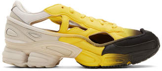Raf Simons Yellow and Off-White adidas Originals Edition Replicant Ozweego Sock Pack Sneakers