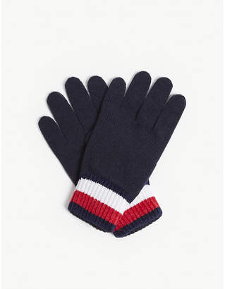 Tommy Jeans Signature knitted cotton gloves