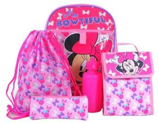 Disney Minnie Mouse DISNEY GIRLS' MINNIE MOUSE 5-PIECE BACKPACK SET