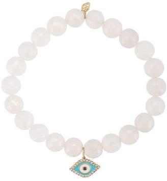 Sydney Evan turquoise evil eye pearl beaded bracelet