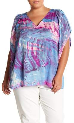 Rachel Roy Flutter Drape Top (Plus)