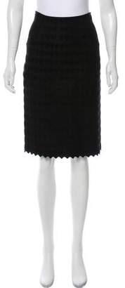 Alaia Scalloped Jacquard Skirt