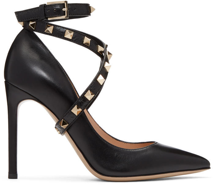 Valentino Black Valentino Garavani Studwrap Heels