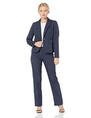 Le Suit Women's Petite Pinstripe 2 Button Jacket Pant Suit