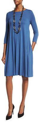 Eileen Fisher Lightweight Jersey Dress w/ Pockets, Petite $188 thestylecure.com