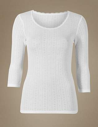 Marks and Spencer 2 Pack Thermal Scoop Neck Tops