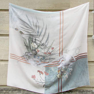 Alice Acreman Silks 'Achromisia' Illustrated Silk Scarf