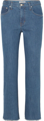 Elizabeth and James Holden Two-tone High-rise Straight-leg Jeans - Mid denim