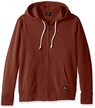 Obey Men's Lofty Creature Comfort Slim Fit Hooded Zip up Fleece