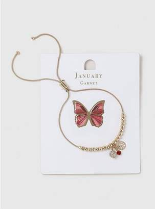 Evans Red January Birthstone Bracelet