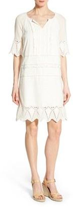 Women's Caslon Embroidered Trim Shift Dress $79 thestylecure.com