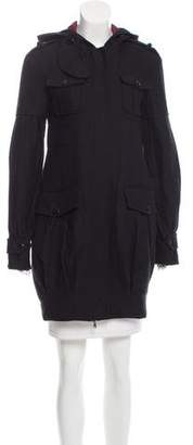 Patrizia Pepe Hooded Wool Coat