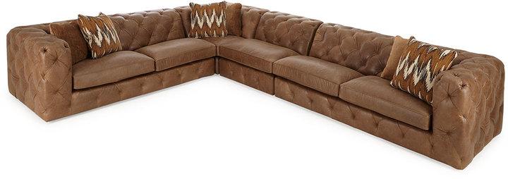 BernhardtBernhardt Brewster Four-Piece Leather Sectional