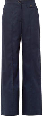 See by Chloe City Twill Wide-leg Pants - Navy