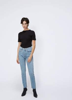 RE/DONE High Rise Ankle Crop Stretch Jean