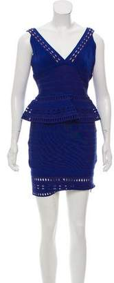 Herve Leger Rebeca Peplum Dress