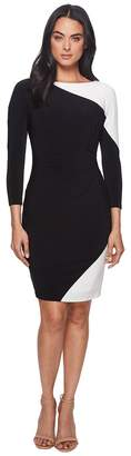 Lauren Ralph Lauren Timber Two-Tone Matte Jersey Dress Women's Dress